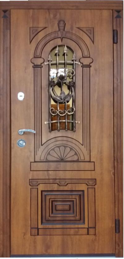 Вхідні двері ТМ «Львівські» колекція Оптима Патина LV-1005 (860*2050)