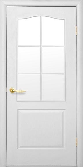 Межкомнатные двери модель «Симпли» B-G (матовое стекло)
